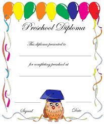 Preschool Graduation Certificate Template Free Best Templates