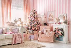 <b>Laeacco</b> Pink <b>Princess</b> Chic Room Scene Christmas Tree Fireplace ...