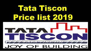 Tata Tiscon Price List 2019
