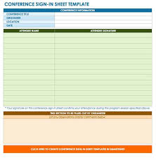 Free Sign In And Sign Up Sheet Templates Smartsheet