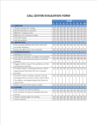 Evaluation Form Template Free Call Center Evaluation Form Templates At Allbusinesstemplates Com