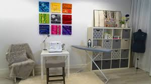sewing room wall decor inspiration