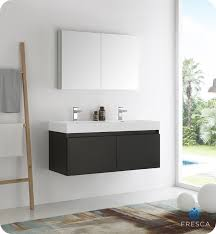bathroom cabinets furniture modern. Fresca Mezzo 48\ Bathroom Cabinets Furniture Modern N