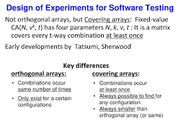 Design Of Experiments Software Testing Standards And Technology Ppt Download