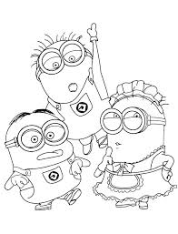 Minion Coloring Pages Bob Minions Despicable Me Giant Book Free