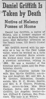 Obituary for Daniel Lee Griffith - Newspapers.com