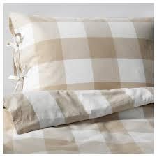emmie ruta duvet cover and pillowcase s beige white thread count