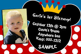 mickey mouse birthday invitation cards mickey mouse birthday purchase your invitation in a digital jpeg file for self printing