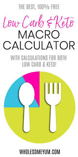 The Best Free Low Carb Keto Macro Calculator Wholesome Yum