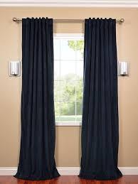 signature midnight blue blackout velvet curtain curtains