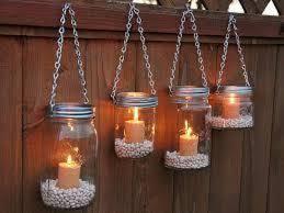 Diy mason jar lighting Do It Yourself Mason Jar Lighting Hanging On Fence Protoolzone 23 Diy Mason Jar Lantern Ideas To Inspire You Protoolzone