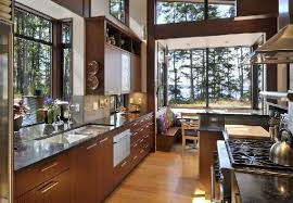 modern classic home design. classic and cool kitchen design in modern wooden house lopez island home w