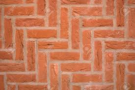 Herringbone Brick Pattern Stunning Brick Wall Using A Diagonal Herringbone Pattern Bond Stock Photo