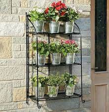 garden grow metal plant stand folding