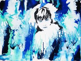 blue eyes oil painting