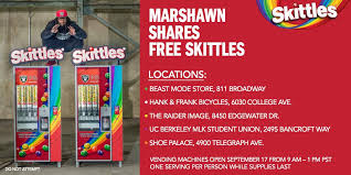 Create The Rainbow Skittles Vending Machine Amazing Shawn Lynch On Twitter Teamed Up With Skittles So Yall Are Game