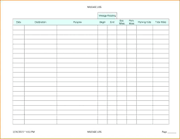 Mileage Book Mileage Log Book Template Travel Gas Vehicle Spreadsheet
