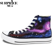 Galaxy Design Shoes Converse Chuck Taylor All Star Hand Painted Galaxy Of Stars Design Shoes