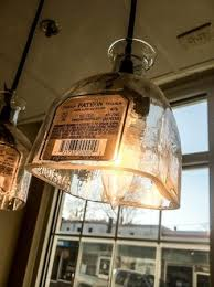 homemade lighting. Mixteca Taqueria Y Cantina: Homemade Patron Bottle Lights Set The Mood Lighting