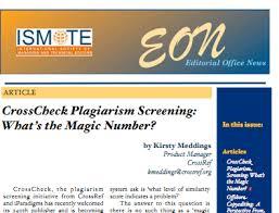 crosscheck plagiarism screening understanding the similarity score