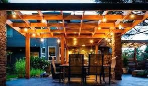 outdoor pergola lighting. Pergola With Lights Design Ideas String Lighting Outdoor . I