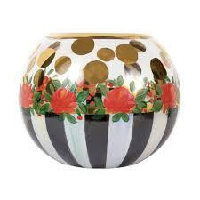 mackenzie childs heirloom glass globe small vase
