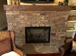 Interiors  Wonderful Painting Stone Fireplace Stone Veneer Stacked Stone Veneer Fireplace