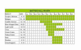 Battenkill River Hatch Chart