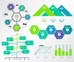 Consulting Charts Five Consulting Charts Templates Set Vector Free Download