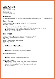 Teen Sample Resume Examples Teenage Resumes First Job Cv