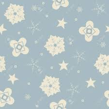 Winter Seamless Pattern With Snowflakes Stars And Flowers Cute