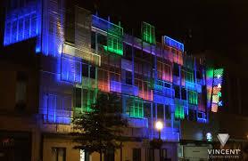 building facade lighting. Building Facade Lighting. KY Helix Garage, Lexington Parking Authority, Lexington, Lighting T