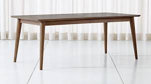 tate walnut extendable midcentury dining table