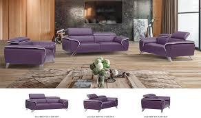 Living Room Furniture Free Shipping 1513 Italian Leather Living Room Set In Purple Free Shipping