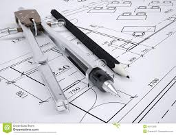 architectural engineering blueprints.  Architectural Architectural Drawing And Engineering Tools In Engineering Blueprints