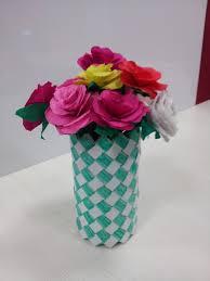 Paper Flower Base Paper Flower Vase With Paper Flowers Devika Crafts