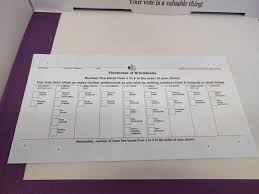 How To Make Ballots On Microsoft Word Single Transferable Vote Wikipedia