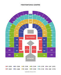 Copps Coliseum Seating Chart With Seat Numbers Hamilton