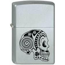 Купить <b>Зажигалка Zippo 205 Tattoo Skull</b> Satin Chrome