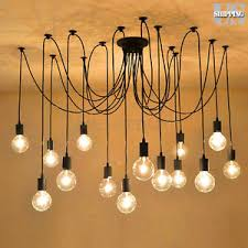 industrial chandelier lighting. Image Is Loading Retro-Industrial-Chandelier-Edison-Spider-Pendant-Light -Ceiling- Industrial Chandelier Lighting L