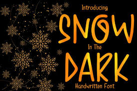 Snow In The Dark Font By Boogaletter Creative Fabrica