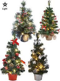 mini pre lit christmas tree 75cm 60cm