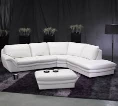tosh furniture white leather sectional sofa and ottoman  flap stores