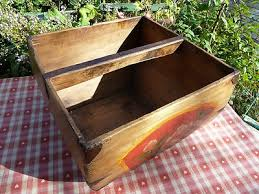 very pretty vintage french hand made wooden trug basket kitchenalia 307969598