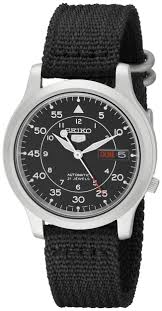 seiko men s snk809 seiko 5 automatic stainless steel watch seiko men s snk809 seiko 5 automatic stainless steel watch black canvas strap super cheap
