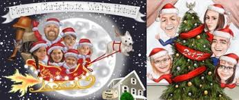 Family Christmas Caricature