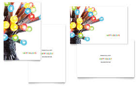 Birthday Cards Templates Word Christmas Lights Greeting Card Template Word Publisher