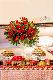 red and gold wedding decor 21 main events