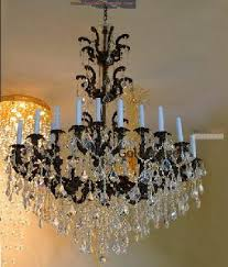 bronze and crystal chandelier. 24 Lights Antique Bronze Finish Cast Brass Crystal Chandelier And