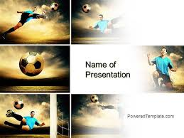 Soccer Collage Powerpoint Template By Poweredtemplate Com Authorstream